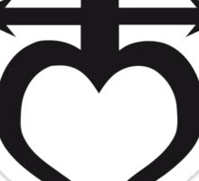 Hearted Anchor Sticker