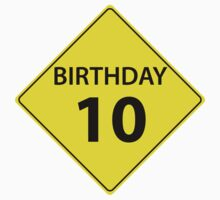Birthday Roadsign 10 by GenerationShirt