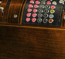 Vintage cash register Sticker