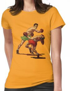 Vintage boxing Womens Fitted T-Shirt