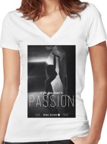 Passion [Original] Women's Fitted V-Neck T-Shirt
