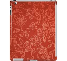 Red Floral Fabric iPad Case iPad Case/Skin