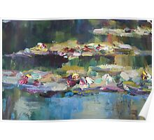 Lily Pond close up 1 Poster