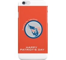 Patriots Day Greeting Card American Patriot Soldier Flag Circle iPhone Case/Skin