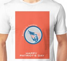 Patriots Day Greeting Card American Patriot Soldier Flag Circle Unisex T-Shirt
