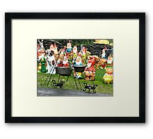 Wainting for the Chow Framed Print