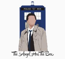 The Angel Castiel Has The Box (Black Text) by TesniJade