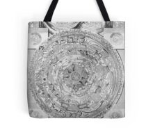Old black and white vintage world's map Tote Bag