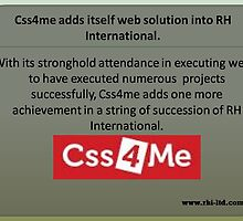Complete web solutions with Css4me by rhiltd