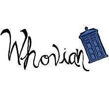Whovian - Dr. Who Photographic Print