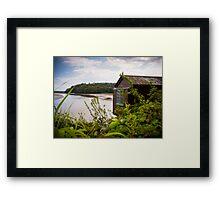 Poet Dylan Thomas Boat House Framed Print
