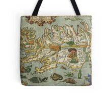 Iceland Map 1590 Tote Bag