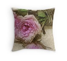 Bouquet in Canning Jar Throw Pillow