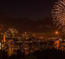 Sydney New Year- Harbour Fireworks by CozSydney