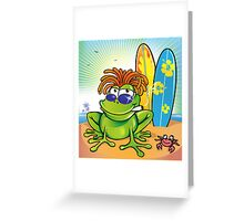 jamaican summer frog Greeting Card