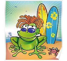 jamaican summer frog Poster
