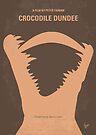 No210 My Crocodile Dundee minimal movie poster by Chungkong