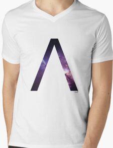 Lambda letter space concept Mens V-Neck T-Shirt