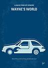 No211 My Waynes World minimal movie poster by Chungkong