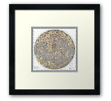 vintage Moon map Framed Print