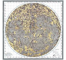 vintage Moon map Photographic Print