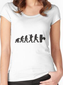 Evolution with minecraft Women's Fitted Scoop T-Shirt