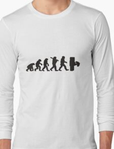 Evolution with minecraft Long Sleeve T-Shirt