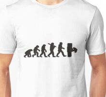 Evolution with minecraft Unisex T-Shirt