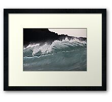 Wave Face Reflections Framed Print
