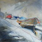 Recession Staithes by Sue Nichol