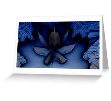 Frosted Orchid On Ice Greeting Card