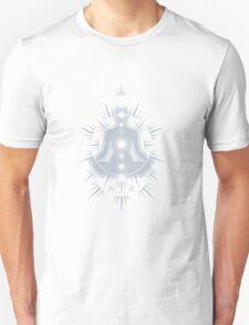 Yoga pose Neutral Blue-White T-Shirt