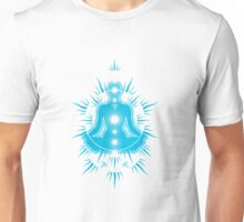 Yoga pose Sky Blue-White Unisex T-Shirt