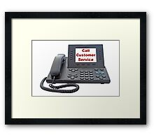 Customer Service VoIP Phone Framed Print