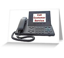 Customer Service VoIP Phone Greeting Card