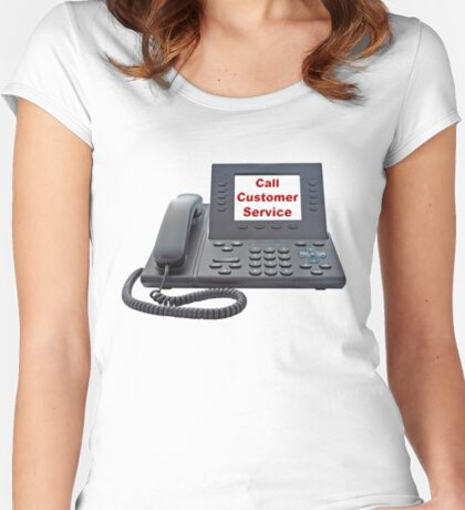 Customer Service VoIP Phone Women's Fitted Scoop T-Shirt