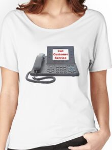 Customer Service VoIP Phone Women's Relaxed Fit T-Shirt