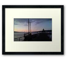 Finger Lakes at Sunset Framed Print