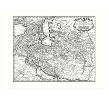 Persia Map 1724 Art Print