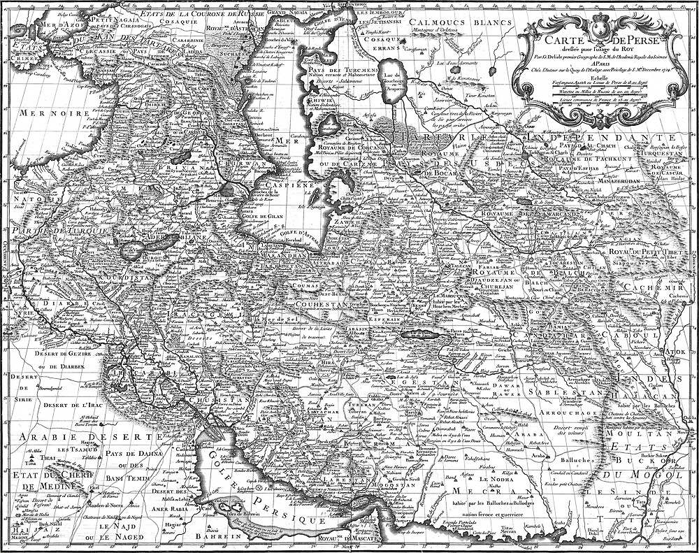 Persia Map 1724 by VintageLevel