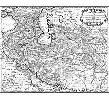 Persia Map 1724 Photographic Print