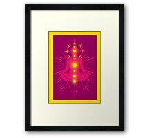 Yoga pose Pink-Rose wine-Yellow Framed Print