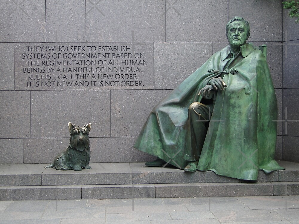FDR and Fala by Barrie Woodward