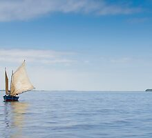 Sailing Out of Posorja, Ecuador by Paul Wolf