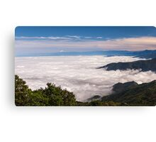 Distant Volcano Canvas Print