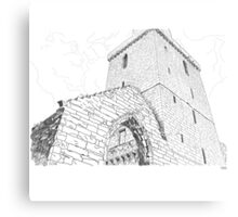 St Serf's Tower, Dysart in Scotland Metal Print