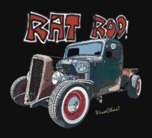 Rat Rod Chevy Pickup T-Shirt Kids Clothes