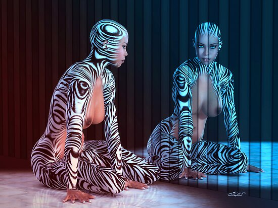 Zebra Woman by JMP-Graphics