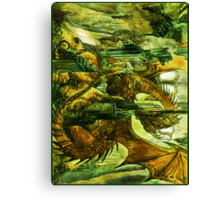 Play with the dragon Canvas Print