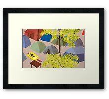 Sunrise in Zuccotti Park - OWS Framed Print
